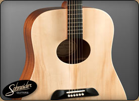 handmade acoustic guitars custom built - The Mahogany Dreadnaught