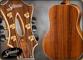 handmade acoustic guitars custom built - The Rosewood Dreadnaught Flattop