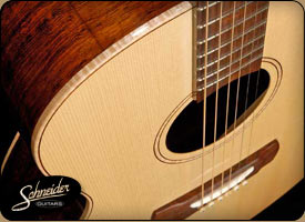 handmade acoustic guitars custom built - The Rosewood Jumbo Flattop