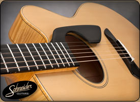 handmade acoustic guitars custom built - The SoHo Thinline Flattop