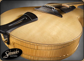 handmade acoustic guitars custom built - The SoHo 17 archtop