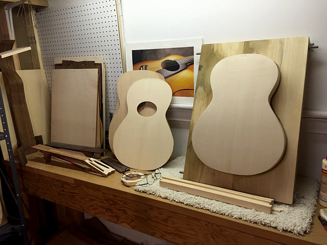 The Full Body of the Guitar Assembled