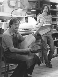Larry Brown and Dave Schneider - Luthiers at work